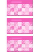 Pink Recipe Card Template