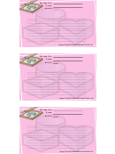 Cookie Lined 3x5 Recipe Card Template - Pink