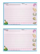 Veggies Recipe Card Template