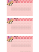 French Lined 3x5 Recipe Card Template