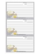 Eggs Black Gingham Recipe Card Template