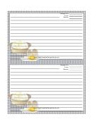 Eggs Black Gingham Recipe Card Template 4x6