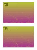 Purple Green Gradient Recipe Card Template