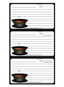 Soup Black Border Recipe Card Template