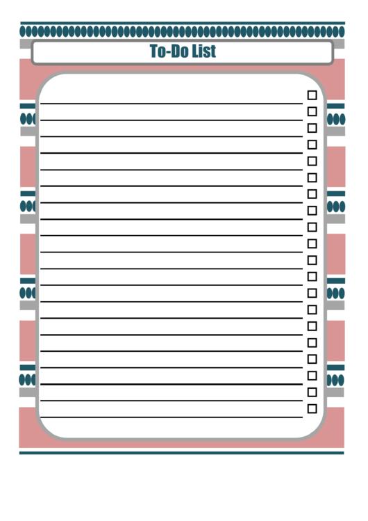 Patterned Checklist