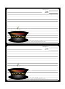 Soup Black Border Recipe Card 4x6