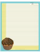 Cupcake Sprinkles Blue Recipe Card 8x10