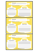 Silhouette Recipe Card 3x5