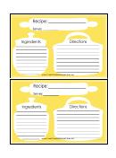 Silhouette Recipe Card 4x6