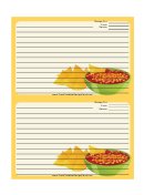 Yellow Chips Salsa Recipe Card 4x6 Template