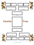 4 Generation Family Tree - Autumn