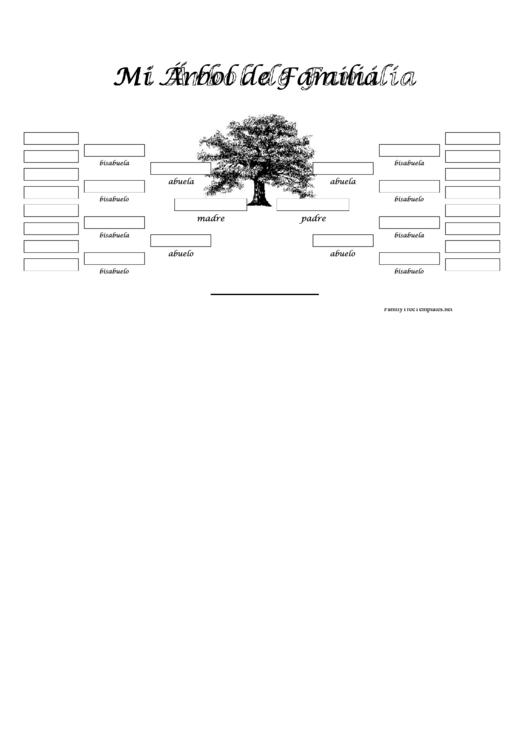 5 Generacion Arbol Genealogico