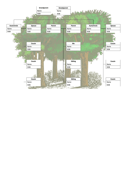 Family Tree With Cousins