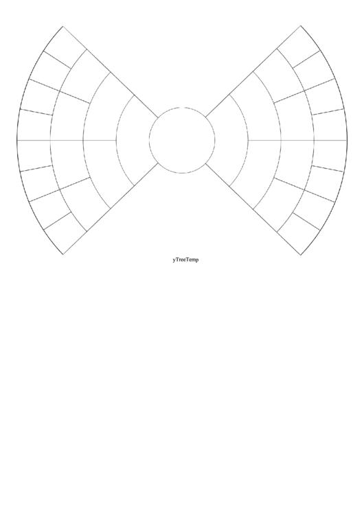 5 Generation Bowtie Family Tree Printable pdf