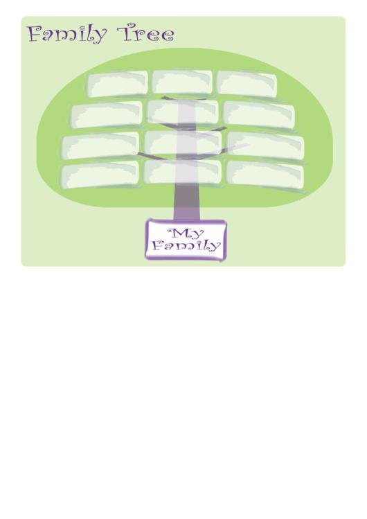 Wide Family Tree Printable pdf