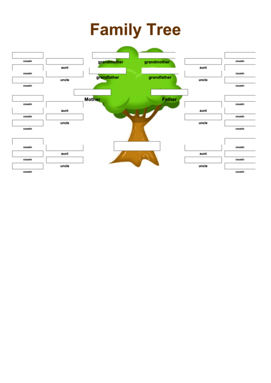 Family Tree With Aunts Uncles And Cousins Printable pdf