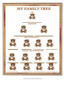Teddy Bear Family Tree