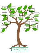 Leaf Family Tree Template