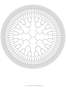 Circle Family Tree 8 Generation