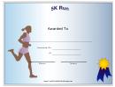 5k Participant Certificate Female