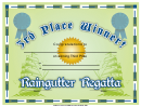 Raingutter Regatta 3rd Place Certificate