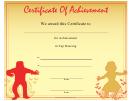 Tap Dancing Achievement Certificate Template