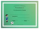 Foosball Certificate Template