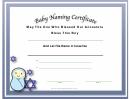 Jewish Baby Boy Naming Certificate Template
