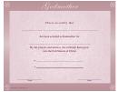 Godmother Certificate Template