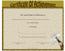 Hunting Achievement Certificate Template