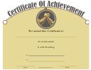Arm Wrestling Achievement Certificate Template