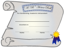 Honor Roll Ab Certificate