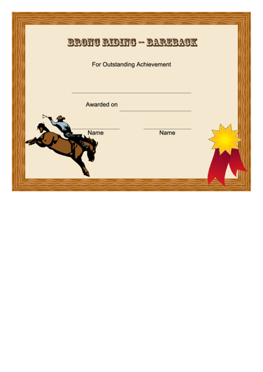 top rodeo certificate templates free to download in pdf format