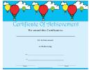 Ballooning Achievement Certificate Template