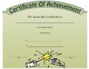 Fencing Achievement Certificate Template