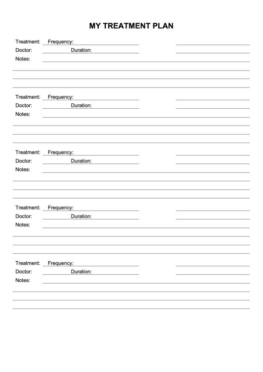 Treatment Plan Template printable pdf download
