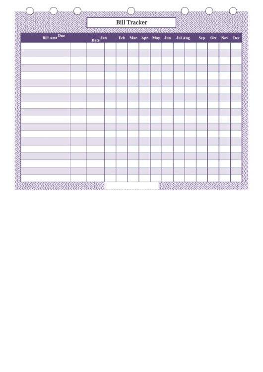 Top 5 Bill Tracker Spreadsheet Templates Free To Download In Pdf Format