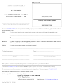 Form Mllc-15 - Limited Liability Company Application For The Use Of An Indistinguishable Name