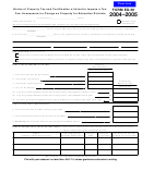 Form Ed-50 - Notice Of Property Tax And Certification Of Intent To Impose A Tax, Fee, Assessment Or Charge On Property For Education Districts - 2004-2005
