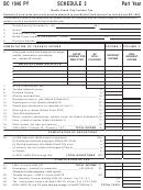 Form Bc 1040 Py - Schedule 3 - Battle Creek City Income Tax