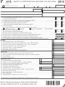 Form 41s - Idaho S Corporation Income Tax Return - 2012, Form Id K-1 - Partner's, Shareholder's, Or Beneficiary's Share Of Idaho Adjustments, Credits, Etc. - 2012