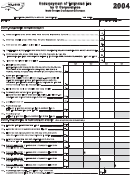 Form Cd-429b - Underpayment Of Estimated Tax By C Corporations - North Carolina Department Of Revenue - 2004