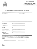 Form Su-s - Vt.telecommunications Sales And Use Tax Return - State Of Vermont