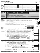 Form 540 - California Resident Income Tax Return - 1998