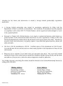 Transmittal Letter, Certificate Of Amendment To Application For Registration