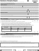 California Form 3500a - Submission Of Exemption Request