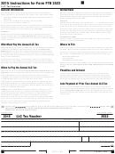California Form 3522 - Llc Tax Voucher - 2015