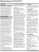 Instructions For Form Ftb 3801-cr - Passive Activity Credit Limitations - 2004