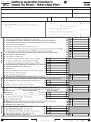 Form 100w - California Corporation Franchise Or Income Tax Return - Water's-edge Filers - 2012