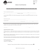 Montana Form Ind - Indian Certification